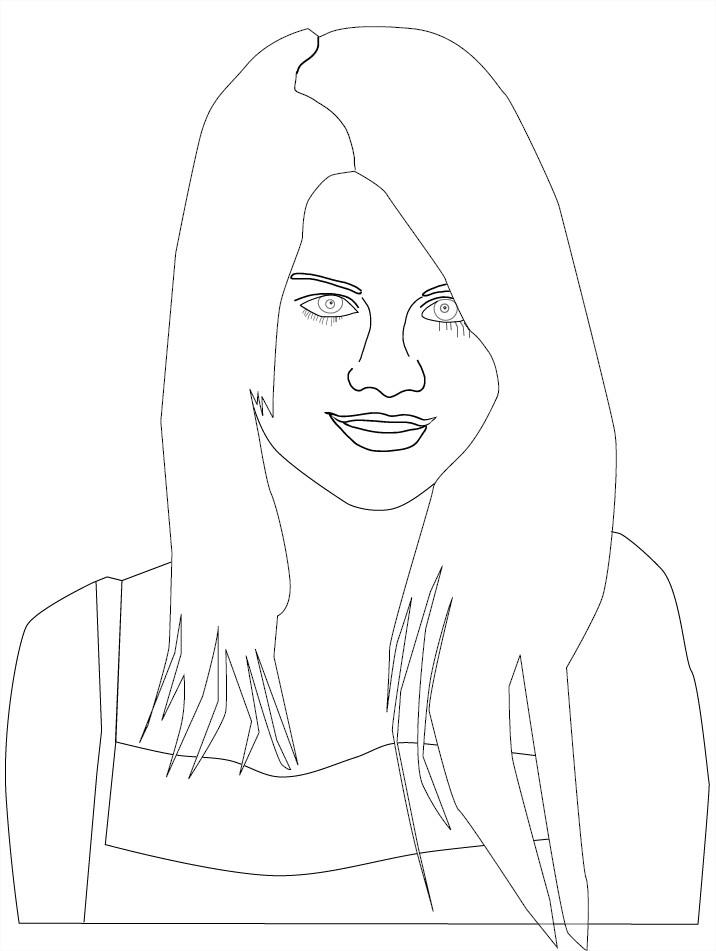 Coloriage selena gomez gratuit - Selena gomez dessin ...
