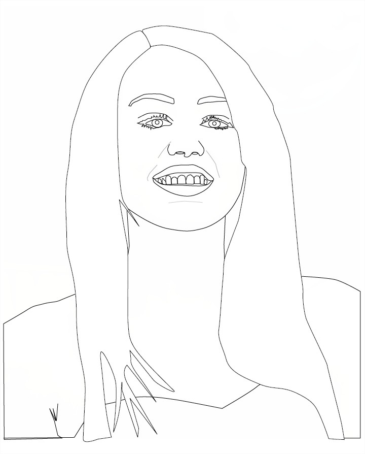 Miley Cyrus coloriage