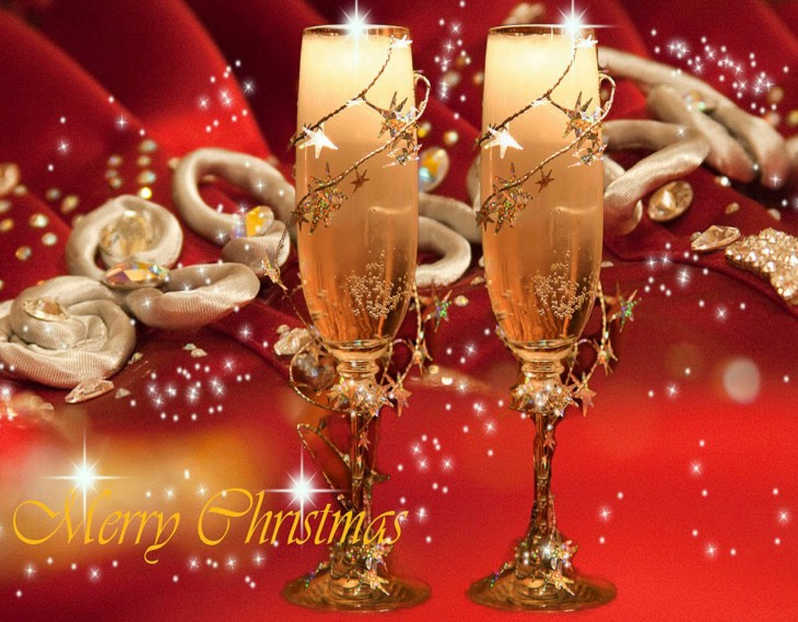 Noel champagne wallpaper