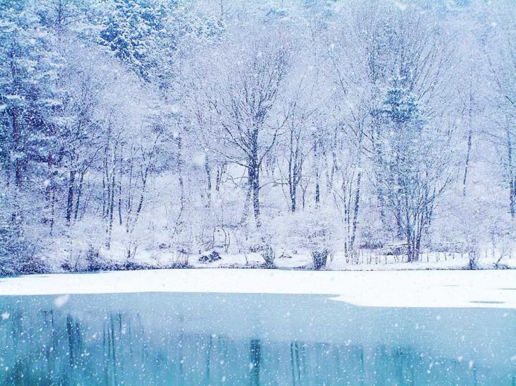 Paysage neige de noel wallpaper