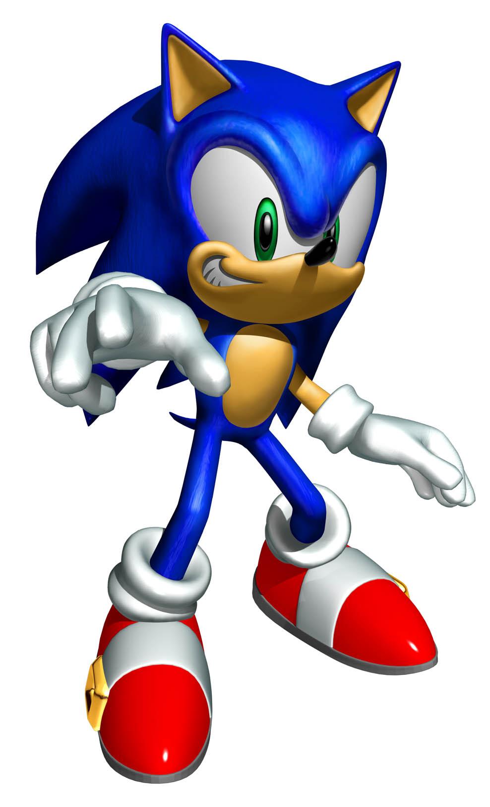 Coloriage Sonic à imprimer et colorier