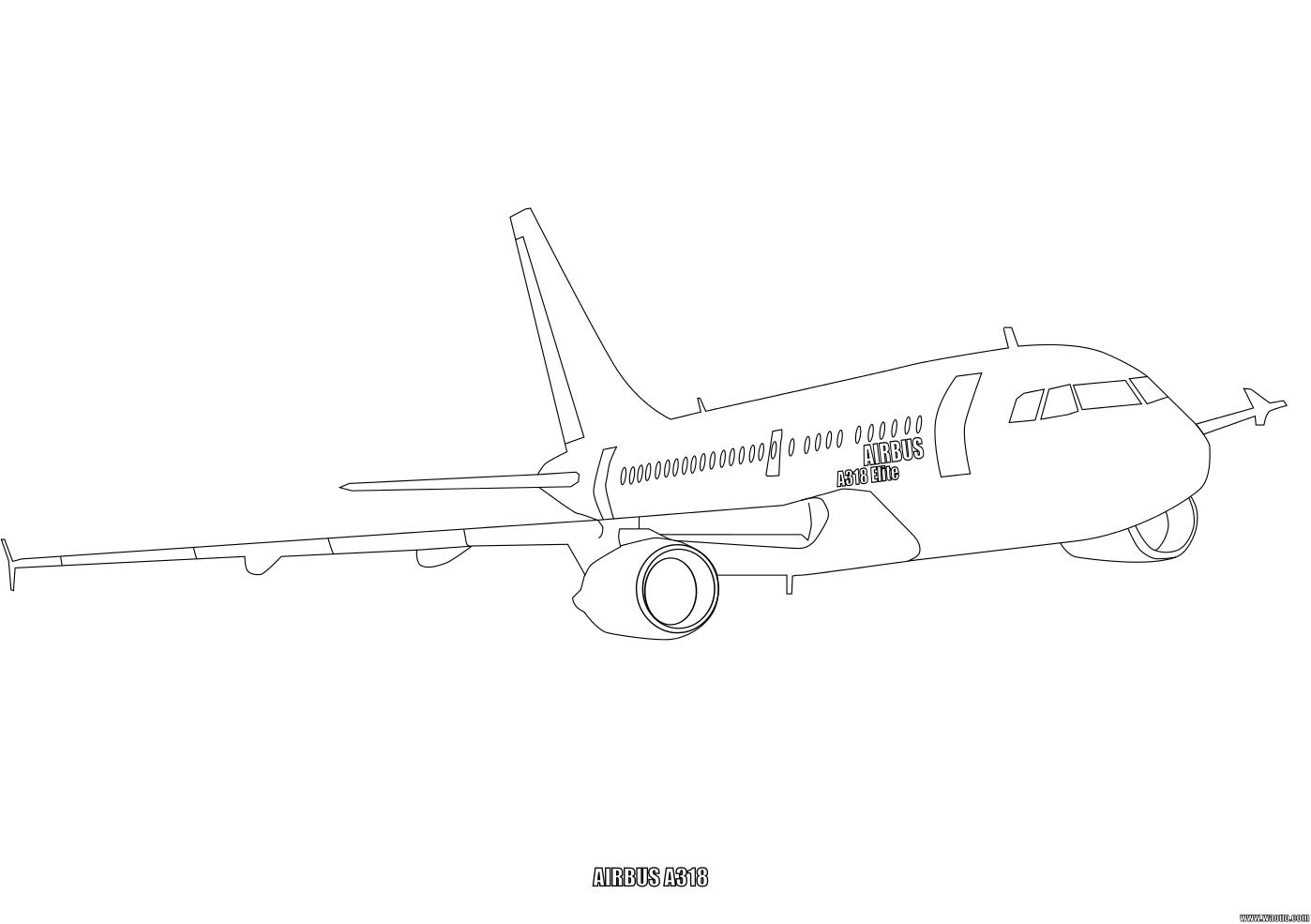A380 airbus coloriage de l avion a380 airbus imprimer - Avion en dessin ...