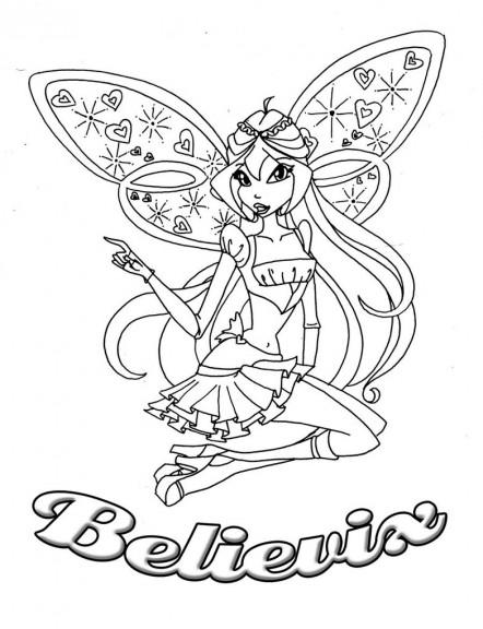 Coloriage Bloom Believix Winx