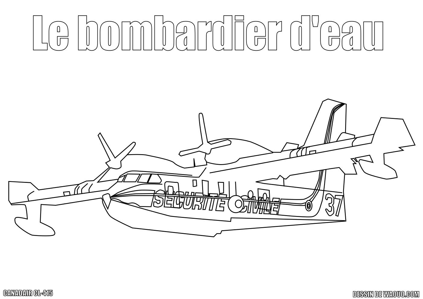 Coloriage Canadair CL-415