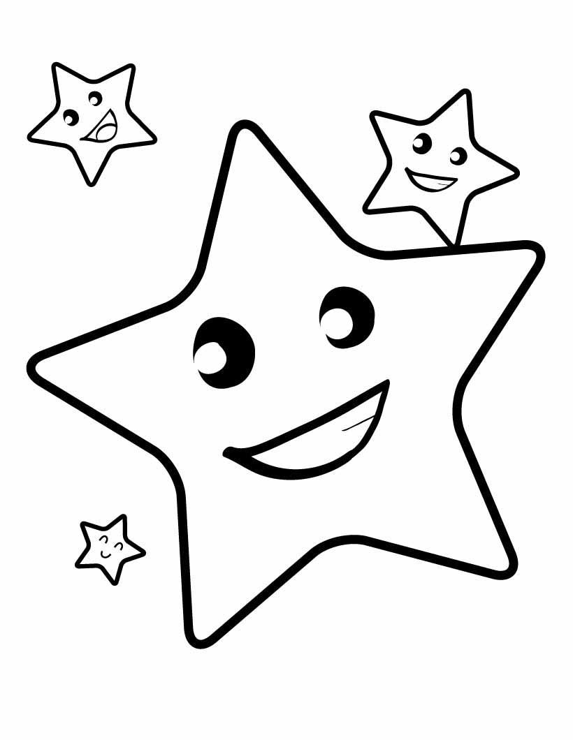 Coloriage étoiles de noël