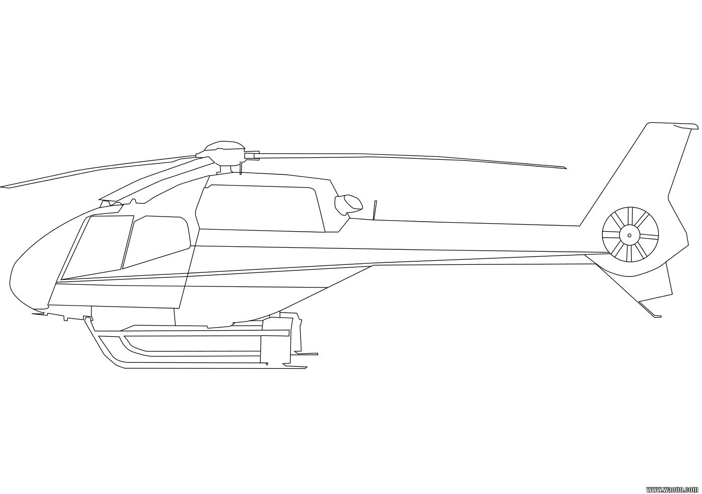 Hélicoptère Coloriage Hélicoptère à Imprimer Et Colorier