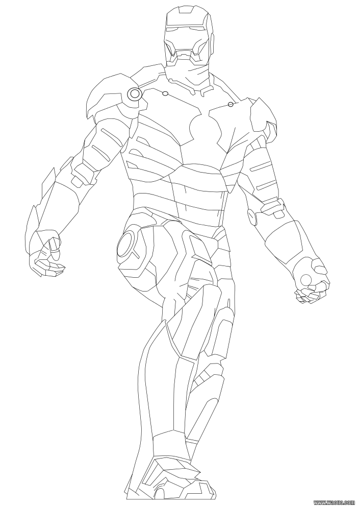 Coloriage Iron Man 2