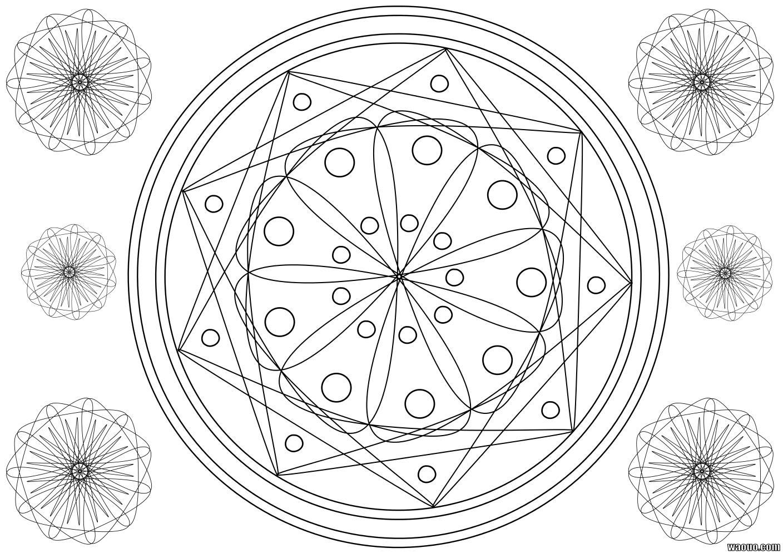 Coloriage mandala multiforme