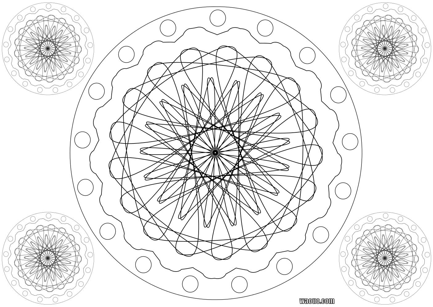 Coloriage Mandala roue