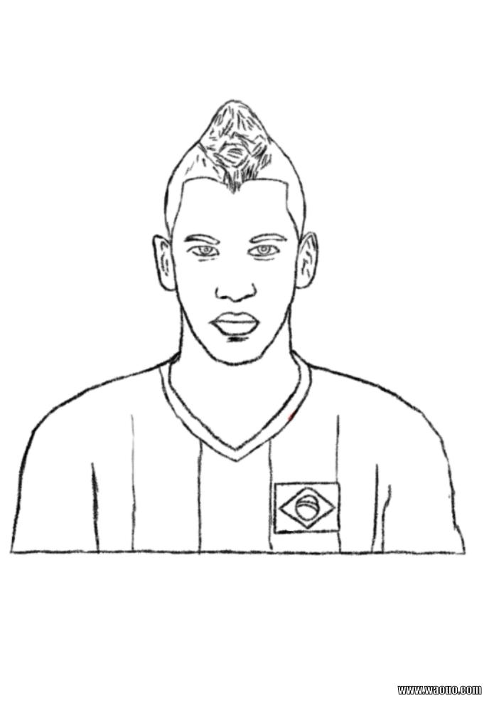Coloriage neymar imprimer et colorier - Footballeur a colorier ...