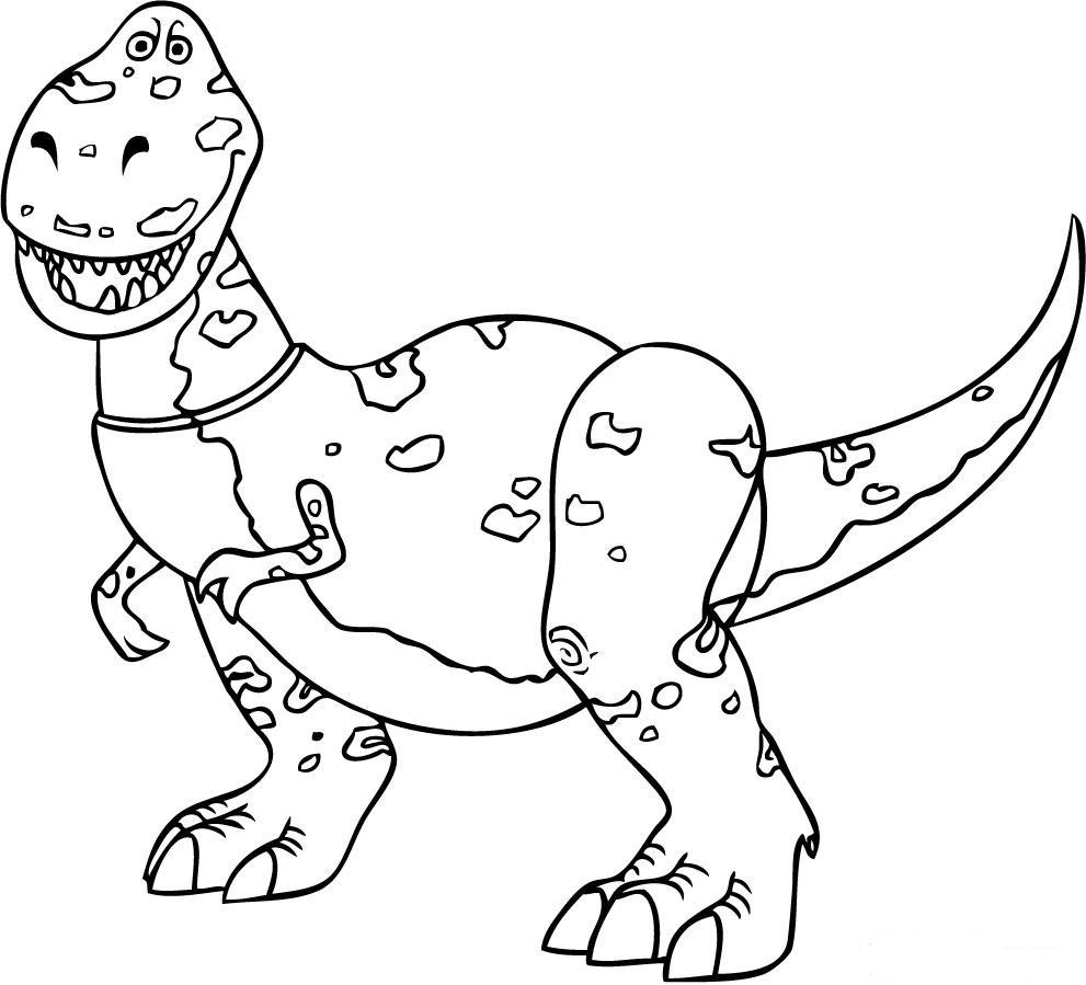 Coloriage Rex Toy Story
