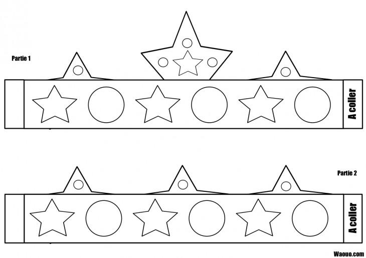 Coloriage couronne des rois imprimer colorier et d couper - Coloriage a decouper ...