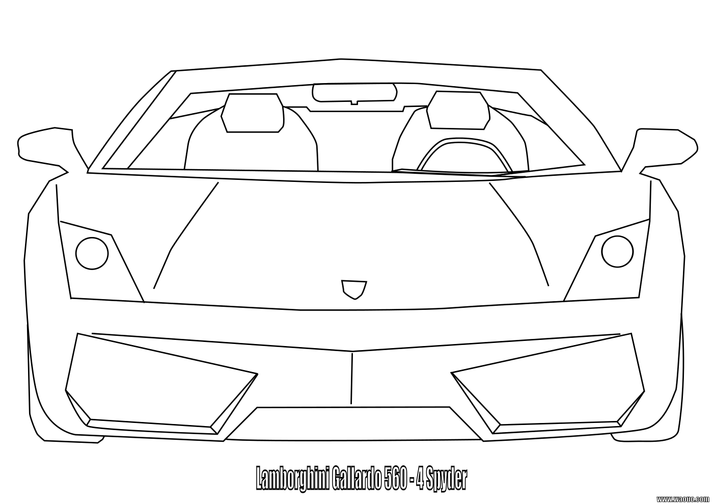Lamborghini Gallardo coloriage