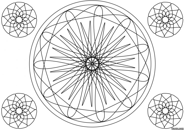 Mandala coloriage