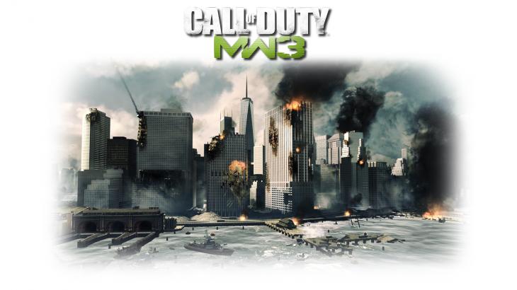 Modern Warfare ville en feu wallpaper