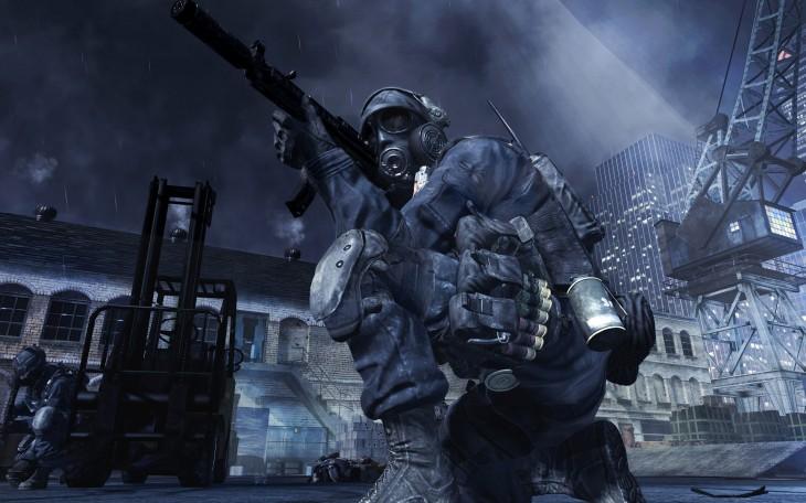 MW3 soldat avec une arme