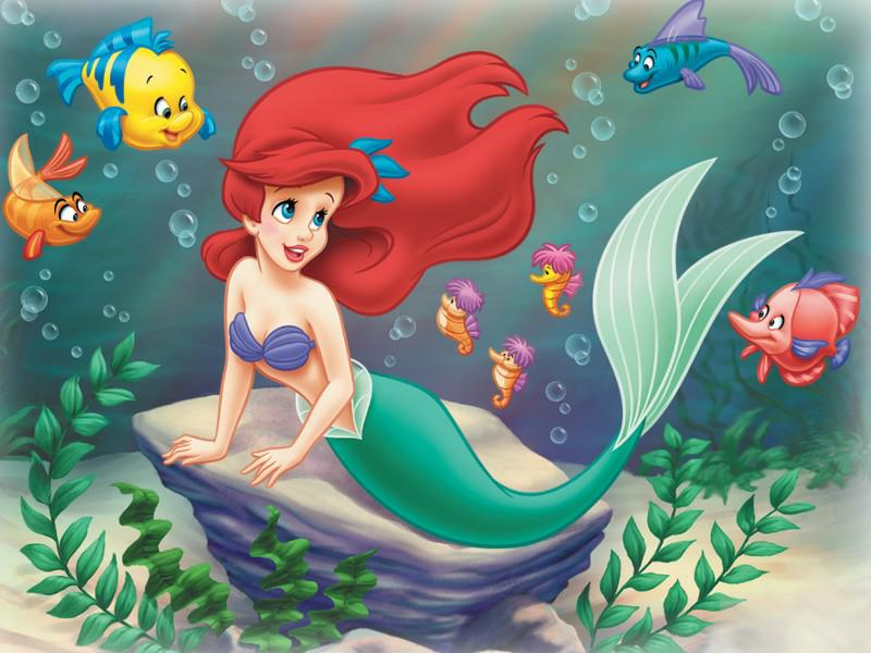 Coloriage Ariel En Couleur.La Petite Sirene Coloriage Ariel La Petite Sirene A Imprimer Et