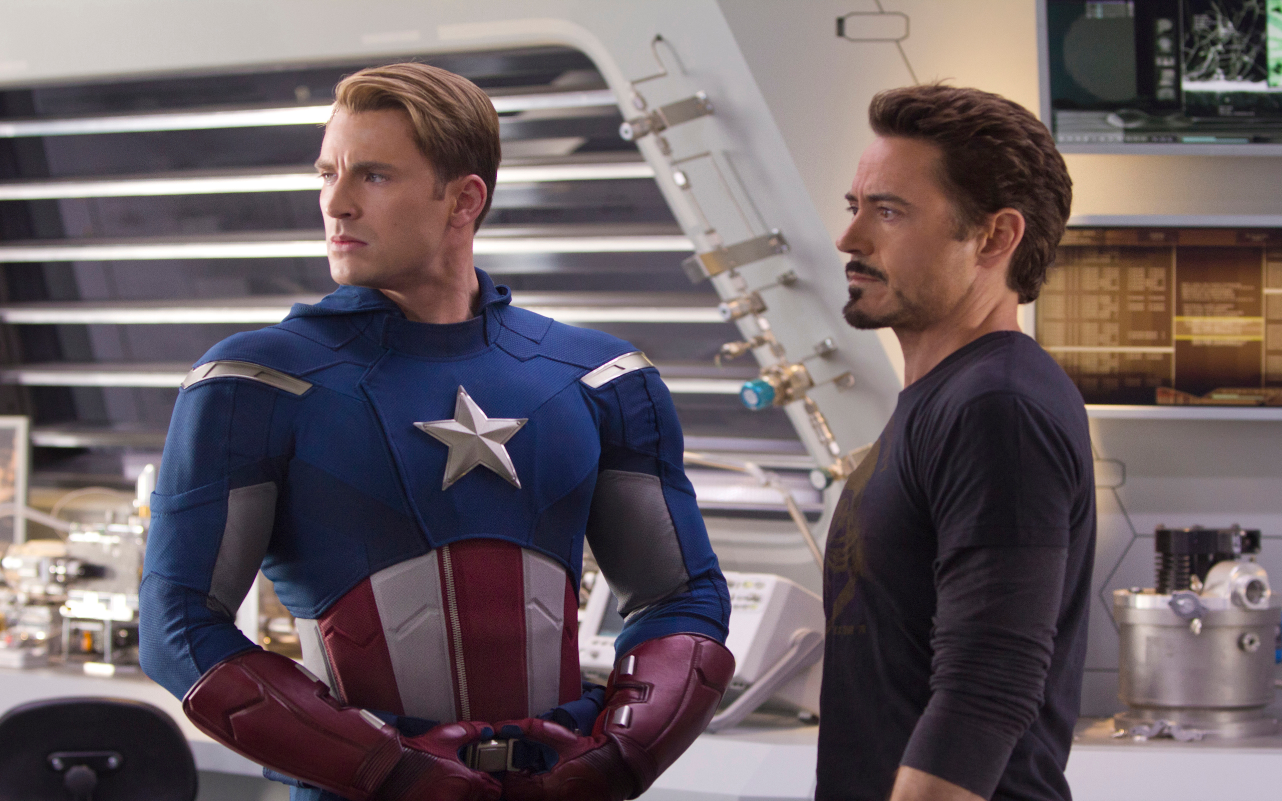 iron man and captain america on Avengers Iron Man Captain America