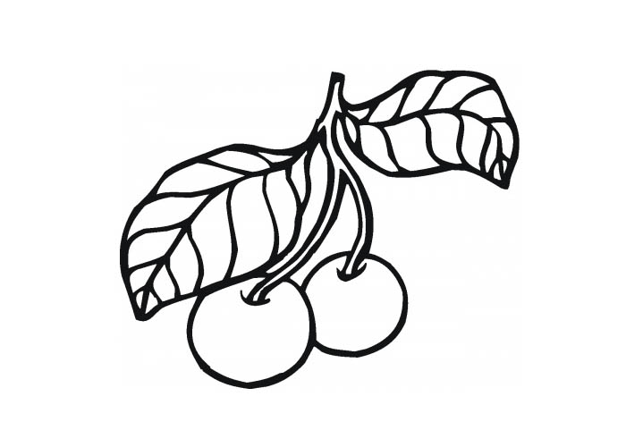 Coloriage des fruits et l gumes gratuit imprimer et en ligne - Cerise dessin ...