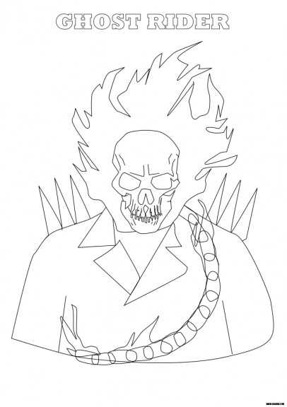 Coloriage ghost rider imprimer et colorier - Coloriage ghost rider ...