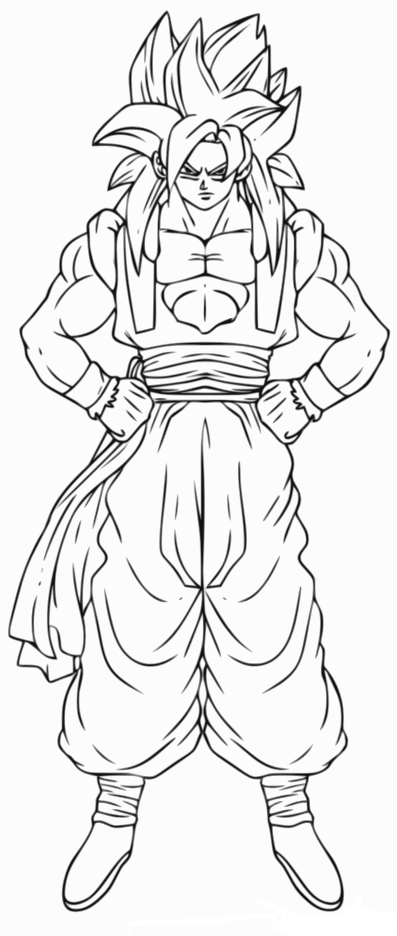 Coloriage gogeta dragon ball z imprimer et colorier - Dessin de dragon ball za imprimer ...