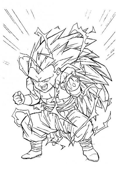 Coloriage Gotrunks Dragon Ball Z A Imprimer Et Colorier