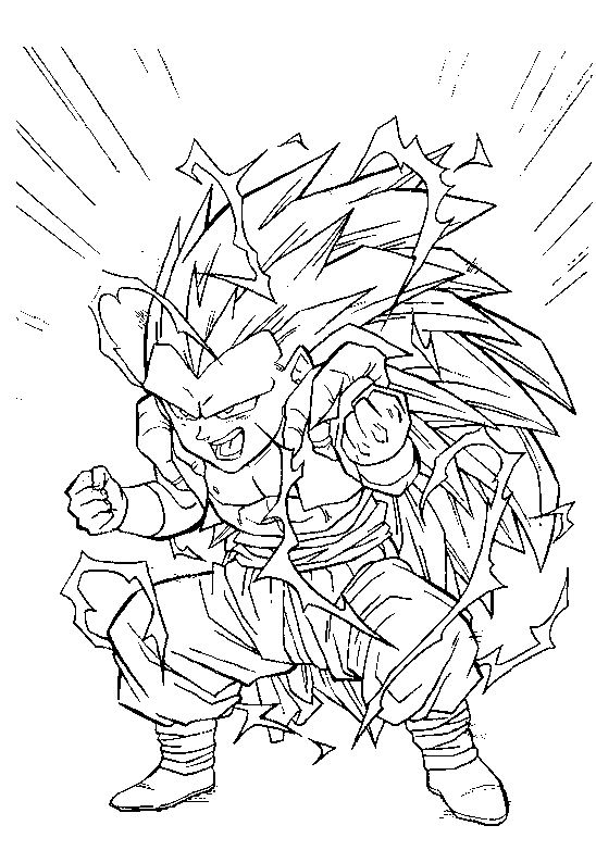 Coloriage Gotrunks Dragon Ball Z à imprimer et colorier