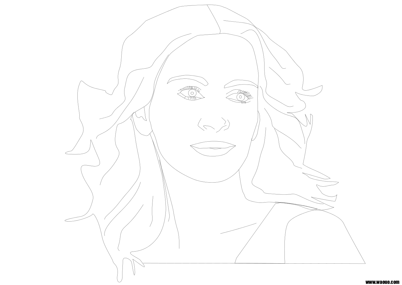 Coloriage Julia Roberts