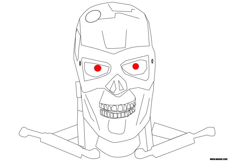 Coloriage Terminator