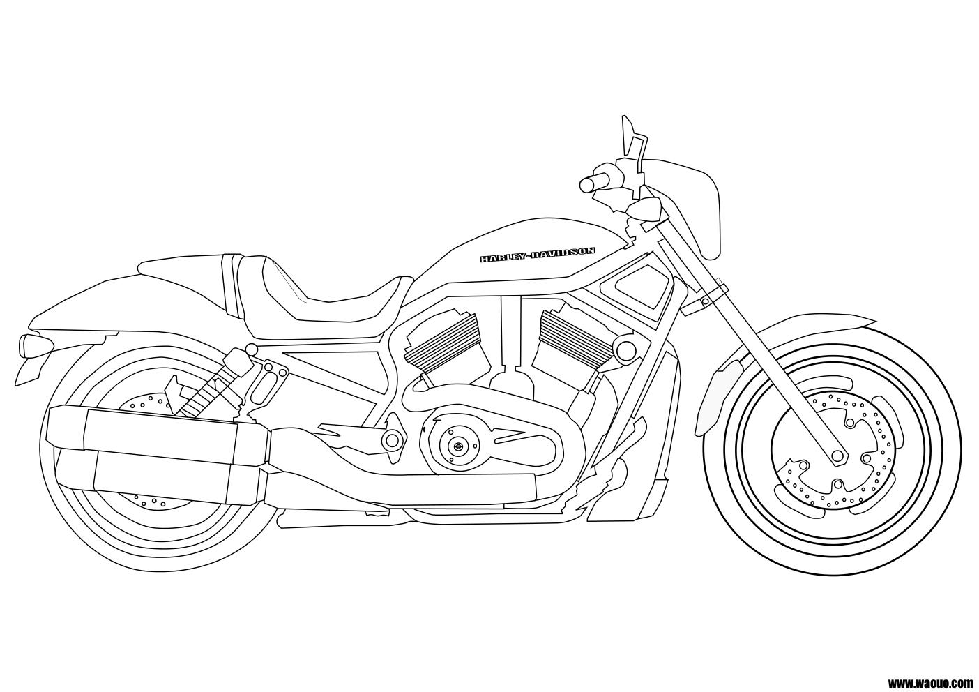 Harley Davidson coloriage