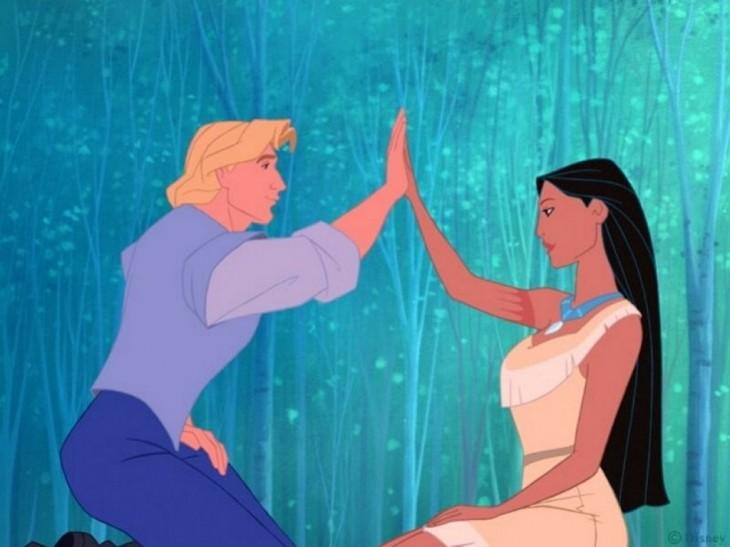 John Smith et Pocahontas