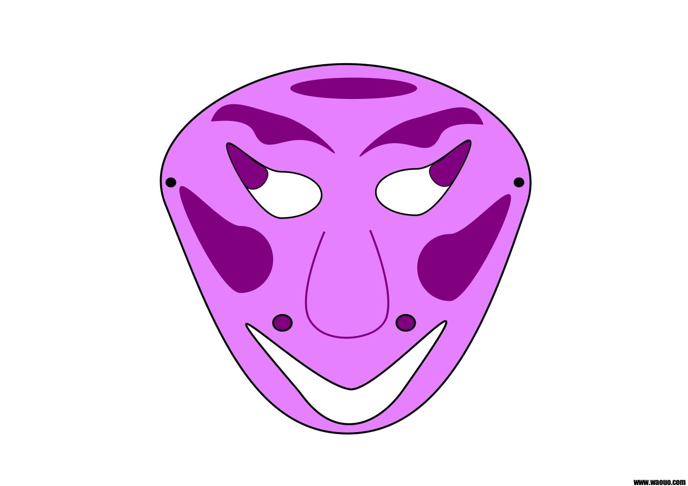 Masque Carnaval à decouper