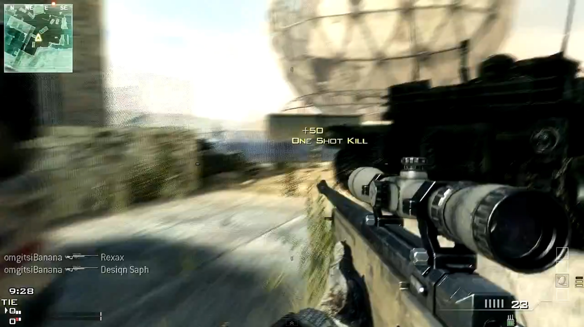 One shot kill sniper mw3