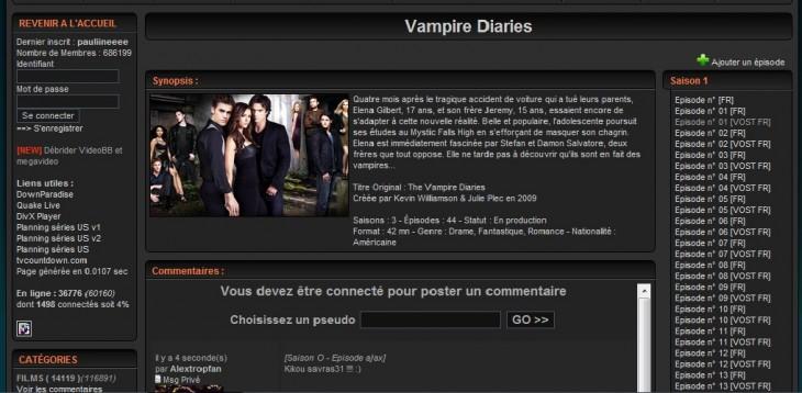 Vampire Diaries sur Dpstream