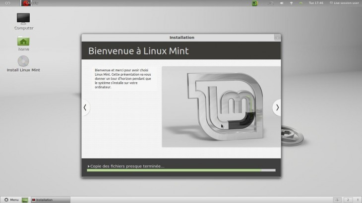 Bienvenue Linux Mint