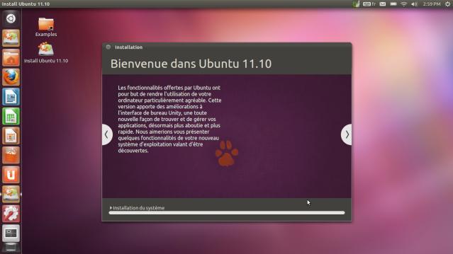 Bienvenue Ubuntu 11.10