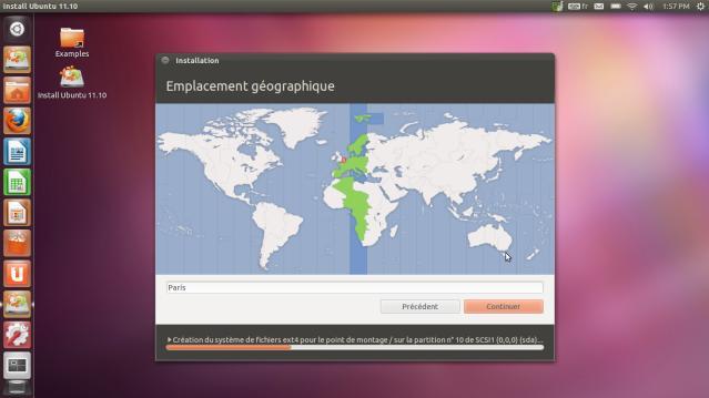 Carte du monde Ubuntu