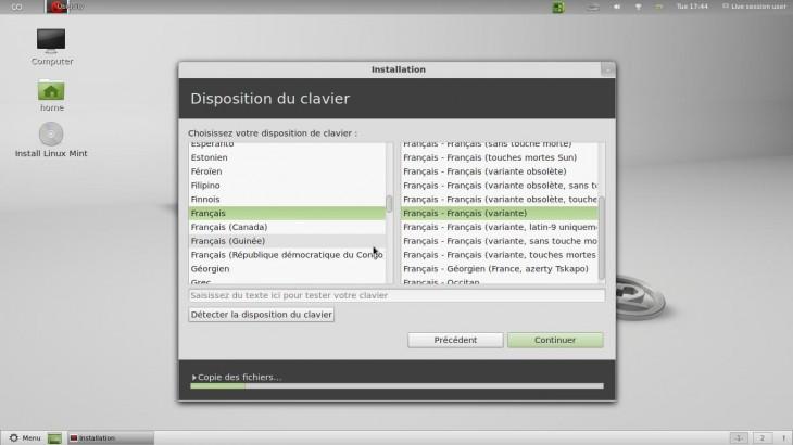 Clavier FR Linux Mint 12