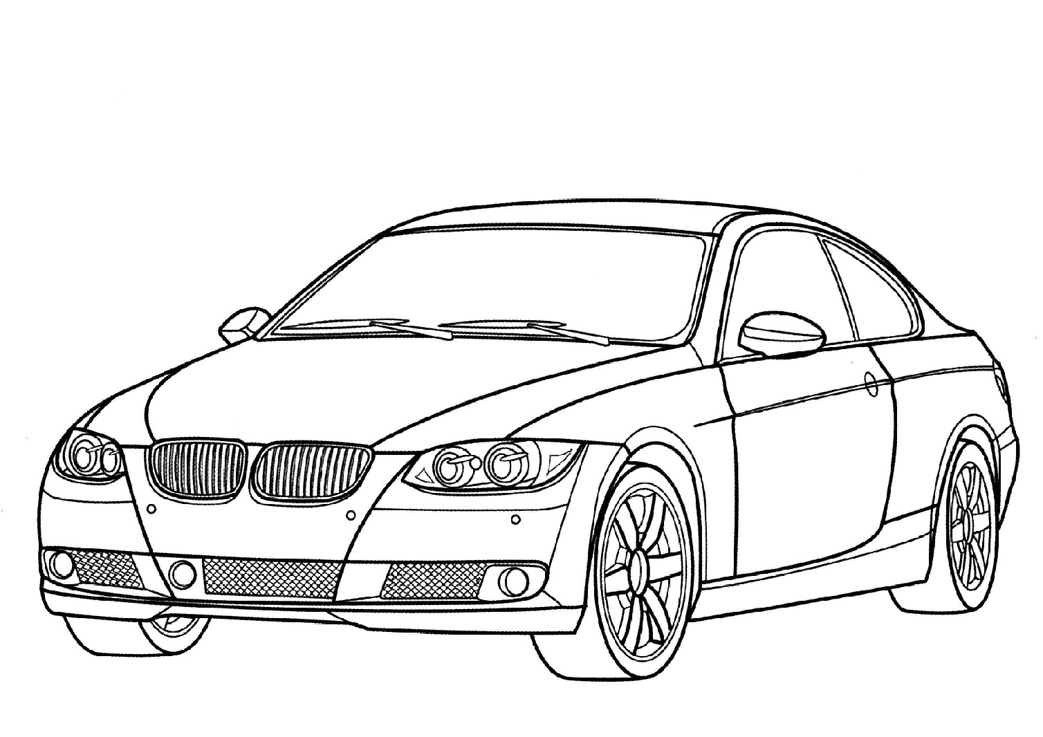Coloriage voiture bmw imprimer et colorier for Motor city performance plus