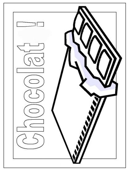 Coloriage chocolat