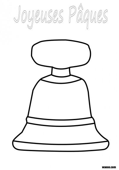 Coloriage cloche de pâques