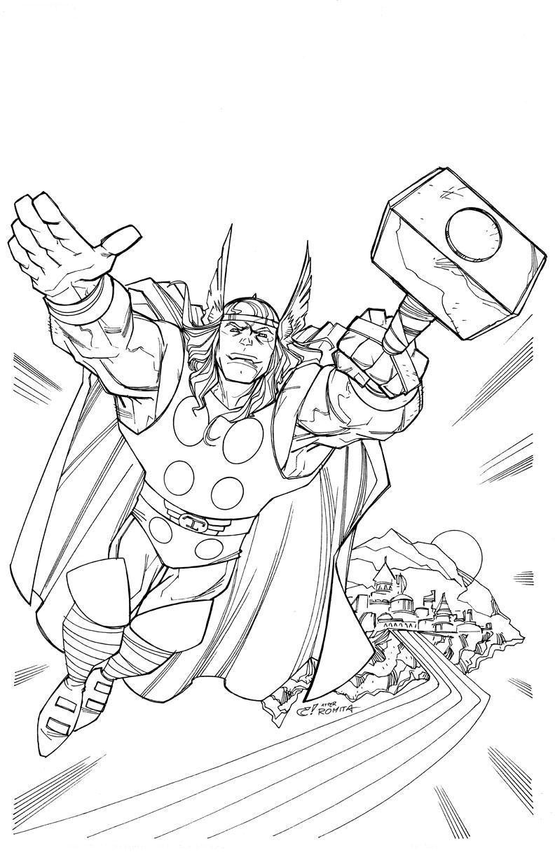 Coloriage dieu Thor