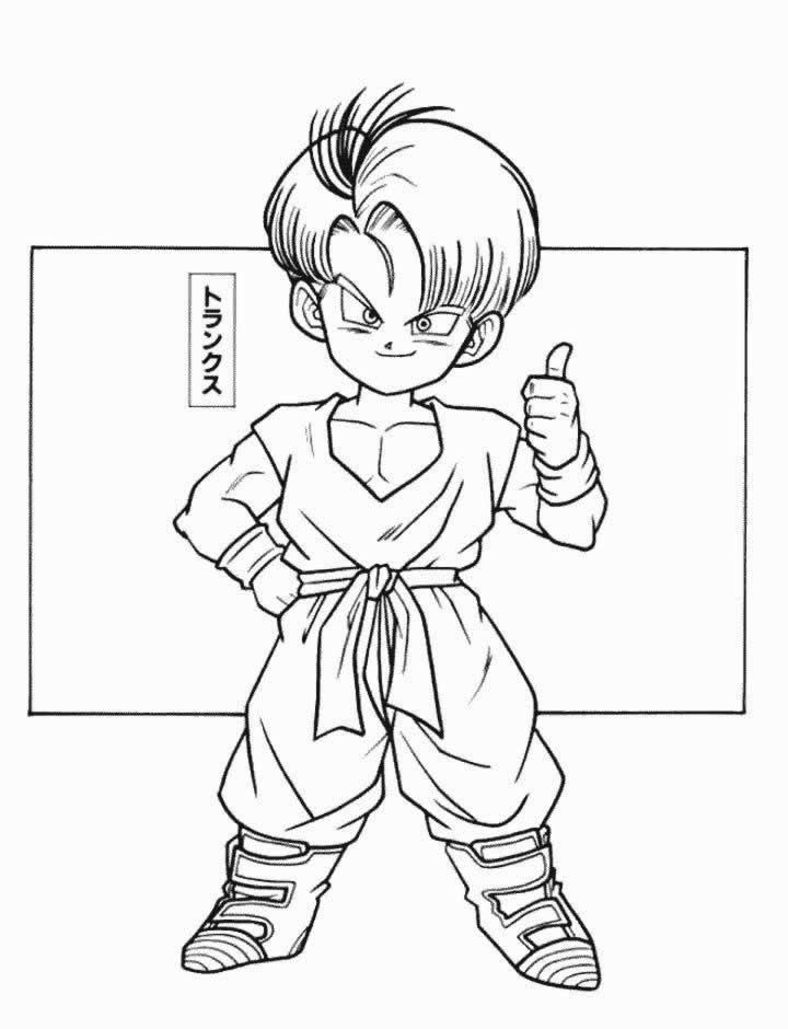 Coloriage Trunks petit