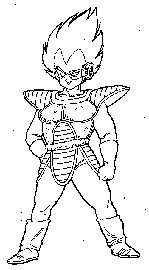 Coloriage Vegeta Dragon Ball