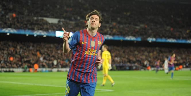Messi quintuplé 2012
