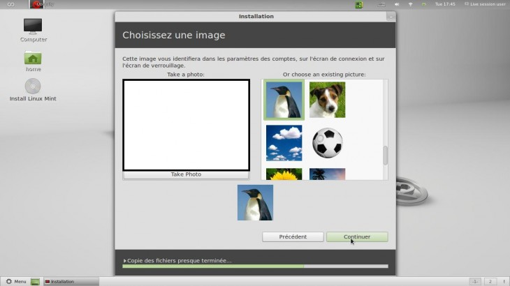 Photo user Linux Mint