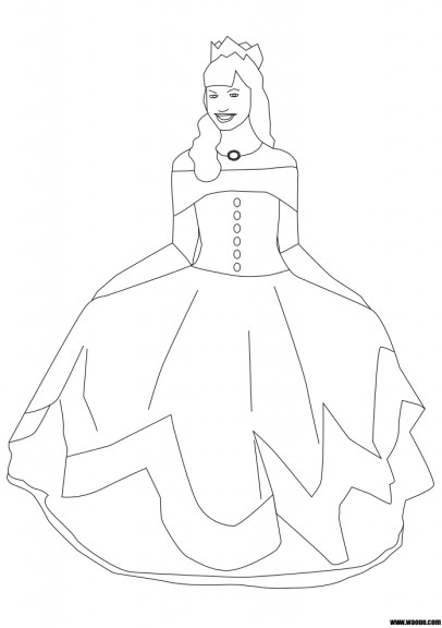 princesse coloriage