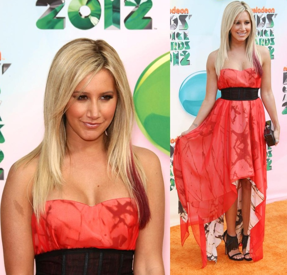 Ashley Tisdale robe Kids Choice Awards 2012