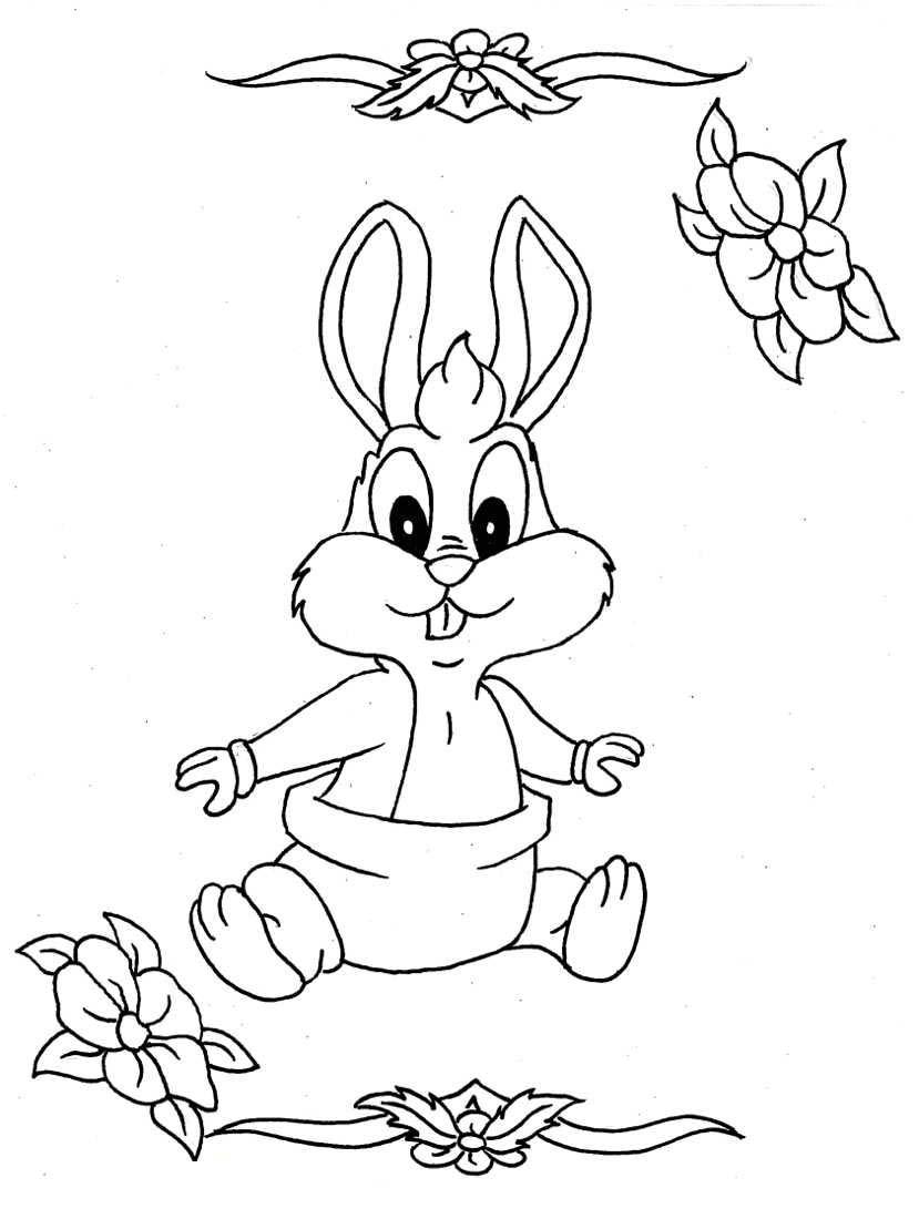 Coloriage bébé Bugs Bunny