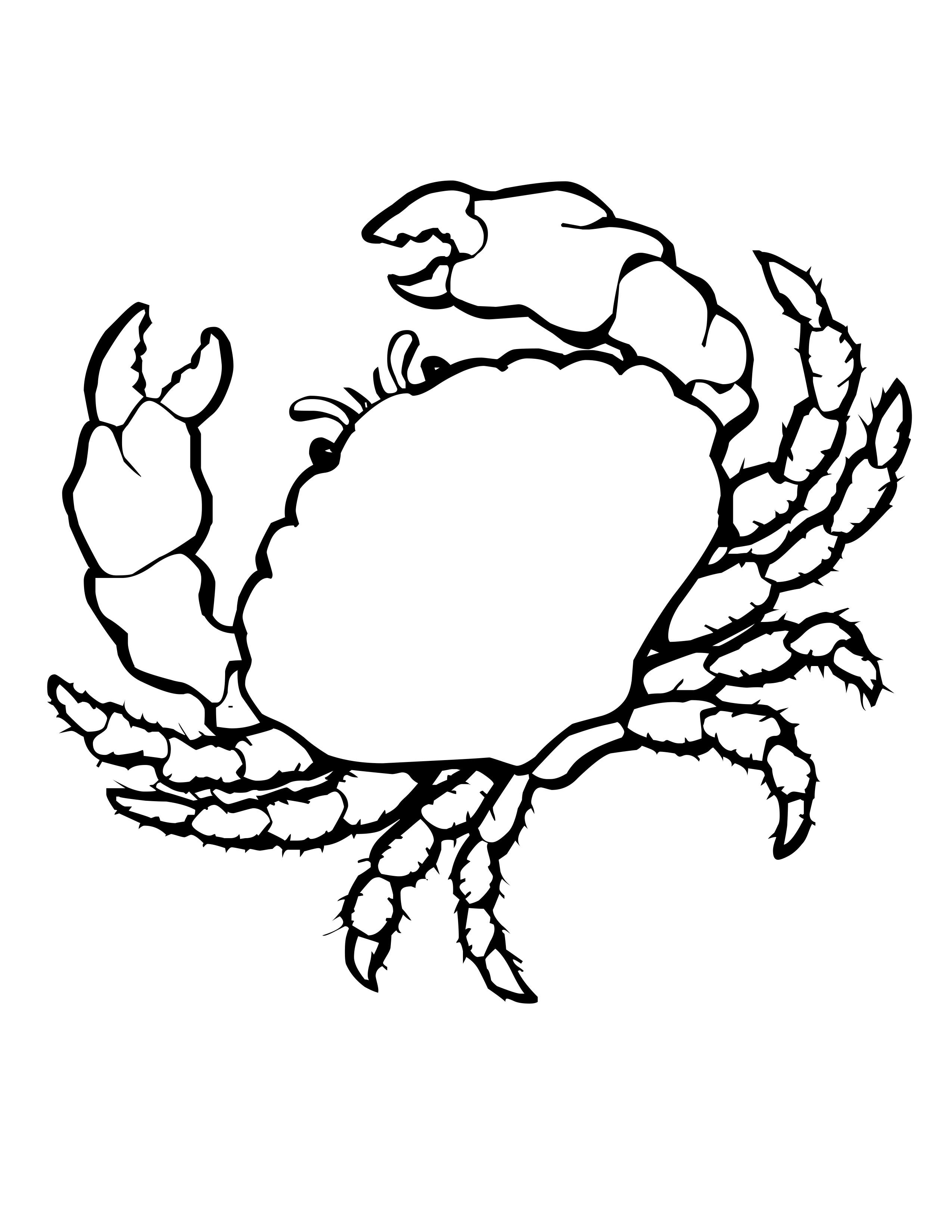 Coloriage Crabe Gratuit A Imprimer